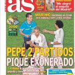 As: Pepe due giornate, Piquè esonerato