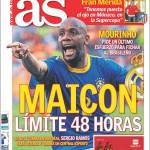 As: Maicon, limite massimo 48 ore