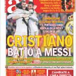 As: Cristiano ha battuto Messi