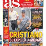 As: Cristiano si spiega ai media