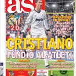 As: Cristiano Ronaldo ha sciolto l'Atletico Madrid
