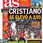 As: Cristiano Ronaldo si è alzato fino a 2.93