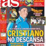 As: Cristiano Ronaldo non riposa
