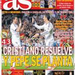 As: Cristiano risolve e Pepe piantato