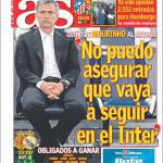 "As: Mourinho ""Non posso assicurare di restare all'Inter"""
