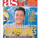 As: Ozil, clausola anti-City, 250 milioni di euro