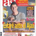 """As: Cristiano Ronaldo """"Voglio esserci contro l'Ajax"""""""