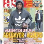 As: Mourinho ha un piano, Adebayor+Aguero
