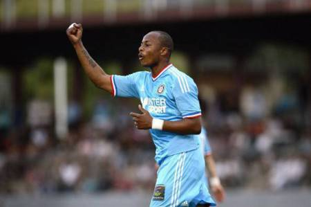 Marseille's Senegalese forward Andre Aye