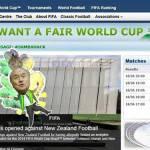 """Foto – Violato il sito della Fifa! Preso in giro Blatter e il messaggio: """"Vogliamo un Mondiale onesto!"""""""