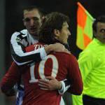 """Juventus, Chiellini sul ritorno di Totti in Nazionale: """"Sono favorevole"""""""