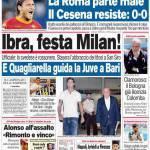 Corriere dello Sport: Ibra, festa Milan!