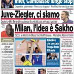Corriere dello Sport: Juve-Ziegler ci siamo. Milan, l'idea è Sakho