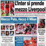 Corriere dello Sport, l'Inter si prende mezzo Liverpool