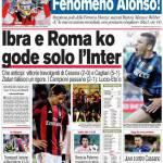 Corriere dello Sport: Ibra e Roma ko, gode solo l'Inter