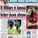 Corriere dello Sport: Il Milan è lassù, Inter-Juve show