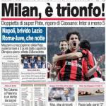 Corriere dello Sport: Milan, è trionfo!