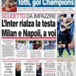 Corriere dello Sport: L'Inter rialza la testa, Milan e Napoli a voi