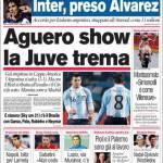 Corriere dello Sport: Aguero Show, la Juve trema