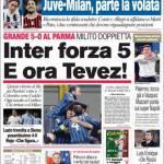 Corriere dello Sport: Inter Forza 5 e ora Tevez