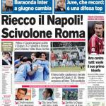 Corriere dello Sport: Riecco il Napoli! Scivolone Roma!