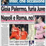Corriere dello Sport: Gioia Palermo, furia Juve. Napoli e Roma, no!