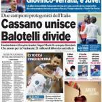 Corriere dello Sport: Cassano unisce, Balotelli divide
