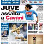 Corriere dello Sport: Juve assalto a Cavani