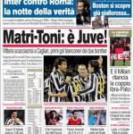 Corriere dello Sport, Matri-Toni: è Juve!