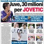 Corriere dello Sport: Juve, 30 milioni per Jovetic