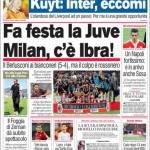 Corriere dello Sport: Fa festa la Juve, Milan: Ibra c'è!