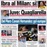 Corriere dello Sport: Ibra al Milan: si! Juve: Quagliarella!