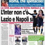 Corriere dello Sport: L'Inter non c'è, Lazio e Napoli sì