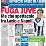 Corriere dello Sport: Fuga Juve ma che spettacolo tra Lazio e Napoli