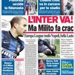 Corriere dello Sport: L'Inter va ma Milito fa crac