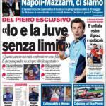 """Corriere dello Sport, Del Piero: """"Io e la Juve senza limiti"""""""