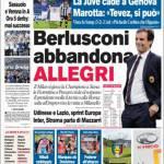 Corriere dello Sport: Berlusconi abbandona Allegri