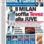 Corriere dello Sport: Il Milan soffia Tevez alla Juve