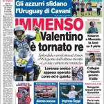 Corriere dello Sport: Gli Azzurri sfidano l'Uruguay di Cavani