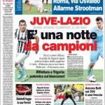 Corriere dello Sport, Juve-Lazio: E' una notte da campioni
