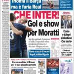 Corriere dello Sport: Che Inter, goal e show per Moratti!