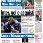 Corriere dello Sport: Inter, gol e acquisti