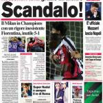 Corriere dello Sport: rossoneri terzi grazie all'arbitro, scandalo!