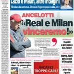 """Corriere dello Sport: Ancelotti """"Real e Milan, vinceremo!"""""""