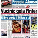 Corriere dello Sport: Vucinic gela l'Inter