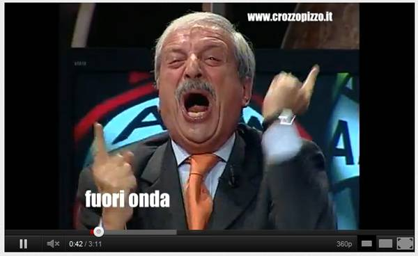 crudeli7 VIDEO, Milan: solito show di Crudeli per il 2 a 0 rossonero