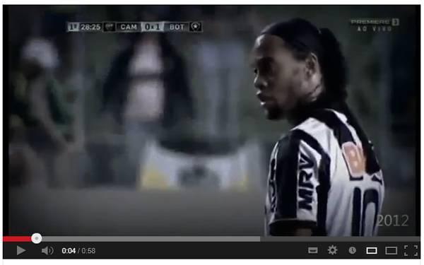 dinho139 Video   Stra or di na rio Ronaldinho! Golazo su punizione contro il Botafogo di Seedorf