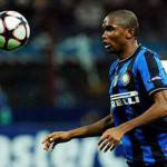 Inter: Eto'o dopo il gol esulta ignorando Milito