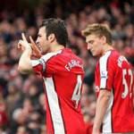 Premier League: tegola per l'Arsenal, Fabregas out tre settimane