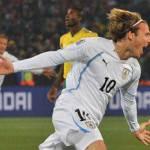Mondiali 2010, Sudafrica-Uruguay 0-1 al termine del primo tempo